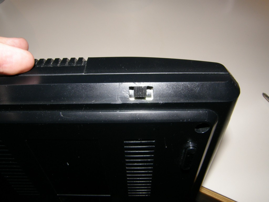 Front view of the finished switch